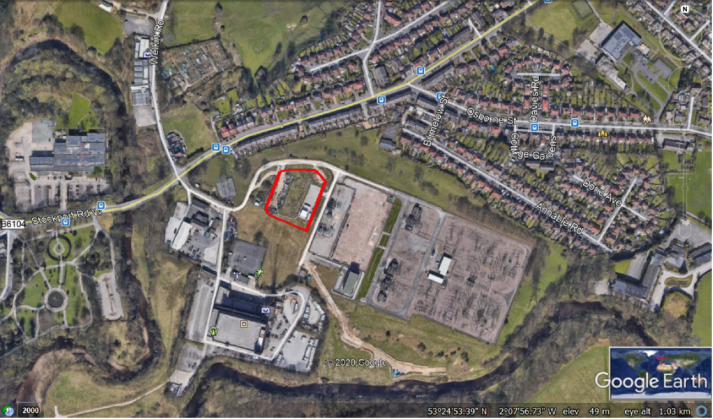 Bredbury site location-satellite image